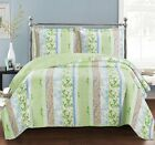 Hayley Oversized Coverlet set, Luxury Microfiber Printed Quilt by Royal Hotel
