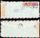 1942 WWII Censored, US - SOUTH ARICA, #815, #829 PREXIES, 70¢, NO SUCH RATE +10¢