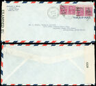 1942 WWII Censored, USA - SOUTH ARICA, 4 x #829 PREXIES, $1.20, RATE, UNDERPAID!