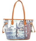 Borsa donna Y NOT ? shopping con manici a spalla SHOPPER BAG 336 PARIS NEW YORK