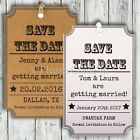 Personalised Rustic Mini Kraft/White Woodsy Cottage Wedding Save the Date Tags