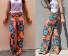 Casual Retro Trend National Wind Printing Straight Leisure Trousers Popular Sale