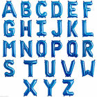 """34"""" BLUE Number 0-9 Letter A-Z Balloons Birthday Wedding Photoshoot Graduate"""