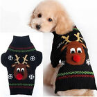 Fashion Christmas Knitted  Reindeer Snowflake Pet Dog Sweater Apparel Costume YY