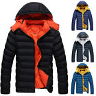 Men's Casual Hooded Thicken Padded Coat Warm Jackets Overcoat Outwear Tops Parka