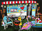 Retro Trailer Life by Melody Smith Day of the Dead Park Artwork Canvas Art Print