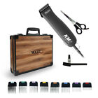 WAHL KM2 Pet Clipper & 33cm TOOL CASE +/- 1- 8 Metal Combs/Guides +/- Scissors