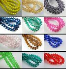 150Pcs Faceted Crystal Glass Beads Rondelle Findings 8x6mm Loose Spacer Jewelery