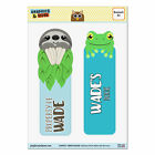 Set of 2 Glossy Laminated Sloth and Frog Bookmarks - Names Male Wa-Wy