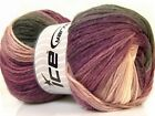 Lot of 4 x 100gr Skeins Ice Yarns MAGIC LIGHT Yarn Black Maroon White