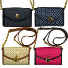 Tommy Hilfiger Purse Womens Crossbody Jacquard Small Chain Handle Wallet Xbody