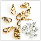 Gold/Silver/Nickel Plated Lobster Claw Clasps DIY Jewelry Making Findings H81
