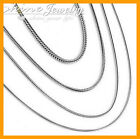 925 Sterling Silver Filled Snake Chain Necklace Mens Women 16-24inch 1mm 2mm 3mm