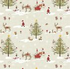 CHRISTMAS WINTER WONDERLAND WIPE CLEAN OILCLOTH PVC TABLE CLOTH CO all sizes
