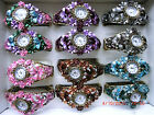 Chunky cuff bracelet Victorian floral watch choice of colours