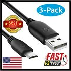 3-Pack Micro USB Cable Type A to Micro B  Data Sync Charger Adapter Cable- 3 ft.