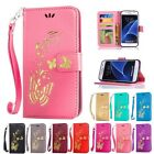 Bronzing Cards Frame Stand  Flip Wallet Leather Cover Case For Samsung Galaxy