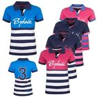Rydale Ladies Etton Polo Shirts Number 3 Embroidered Striped Sports Top