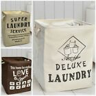 Deluxue Large Foldable Laundry Washing Bag Hamper Basket Box Storage Reusable