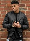 New Mens Designer Gym King Zip Up Bomber Jacket 2 x Colours