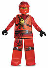 Prestige Kai Red Ninjago Lego Boys Child Costume NEW Masters of Spinjitzu