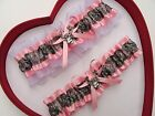 NEW Mossy Oak Camouflage Camo Light Pink Baby Pink White Wedding Garter Prom