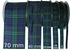 Black Watch Tartan Ribbon - various widths, cut lengths and 25m reels
