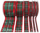 MacGregor Tartan Ribbon - various widths, cut lengths and 25m reels