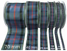 Flower of Scotland Tartan Ribbon - various widths, cut lengths and 25m reels