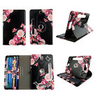"Case for 7 inch Tablet Universal 7"" Android Folio pu Leather Rotating card slots"