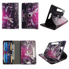 """Case for 7 inch Tablet Universal 7"""" Android Folio pu Leather Rotating card slots"""