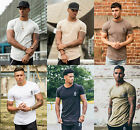 New Mens Designer Gym Kng Longline Stylish T Shirt Tee Top in Various Colours