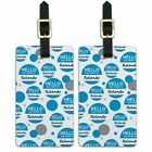 Luggage Suitcase Carry-On ID Tags Set of 2 Hello My Name Is Ro-Ry