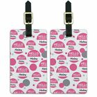 Luggage Suitcase Carry-On ID Tags Set of 2 Hello My Name Is Ha-Hu