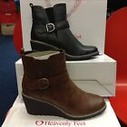 Heavenly Feet Fleur Ladies Wedge Boots Black Brown New Flying Out Sizes,4,5,6,7,
