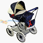 blue dolls prams
