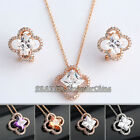 A1-S091 Micro Inlays Rhinestone Earrings Necklace Jewelry Set 18KGP Crystal