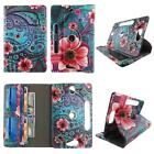 Tablet Case For 10 inch Folio Stand Leather Rotating Cover Card Cash Slots