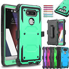 Shockproof Rugged Hybrid Armor Holster Belt Clip Kickstand Case Cover for LG V20