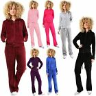 Ladies Womens Comfortable Velour Hooded Lounge Wear TOP Bottom Jogging Tracksuit