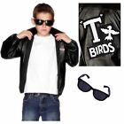 Boys Grease T Birds 50s Jacket & Glasses Fancy Dress Costume age 7-9 10-12 years