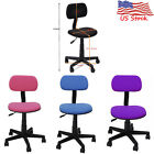 Adjustable Swivel Task Chair Fabric Office Black Computer Ergonomic Midback Desk