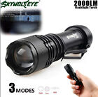 5000LM Zoomable X800 XML T6 LED Tactical Police Flashlight Torch Case 18650 Kits