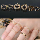 6 Ringe im Set Fingerspitzenringe Midi Ring Knöchelring Knuckle Ring Stapel Ring