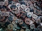 100 X Small 12mm 20L Pink Peach Brown Black Craft Scrapbook 2 Hole Buttons (SC5)