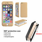For Apple iPhone 7 PLUS Case Protective Shockproof PC + Glass Hard Bumper Cover
