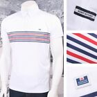 Weekend Offender Horizontal Fine Stripe Short Sleeve Polo White