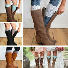 Women All Match Stretch Boot Cuffs Flower Leg Warmers Lace Trim Toppers Socks