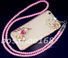 Glitter Luxury Bling Diamonds Soft TPU Gel Shell back Case Cover with strap #A