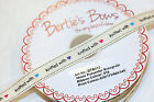 "Bertie's Bows 16mm Ivory Grosgrain ""Knitted with Love"" Hearts Ribbon / Labels"